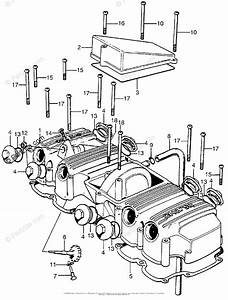 Honda Motorcycle Models With No Year Oem Parts Diagram For Cylinder Head Cover