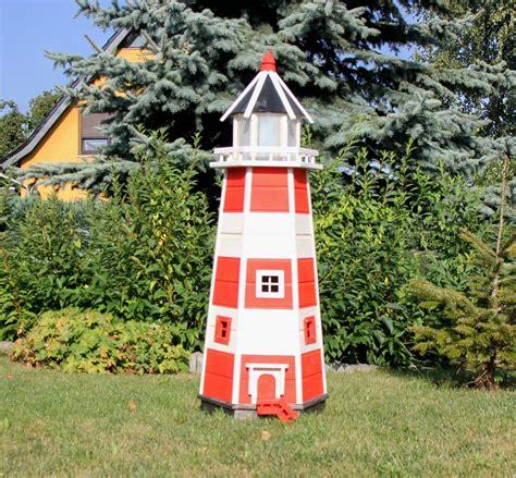 Solarbeleuchtung Für Den Garten by Gro 223 Er Massiver Leuchtturm Mit Beleuchtung Aus Holz