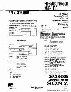 Sony Fh-b55cd Service Manual