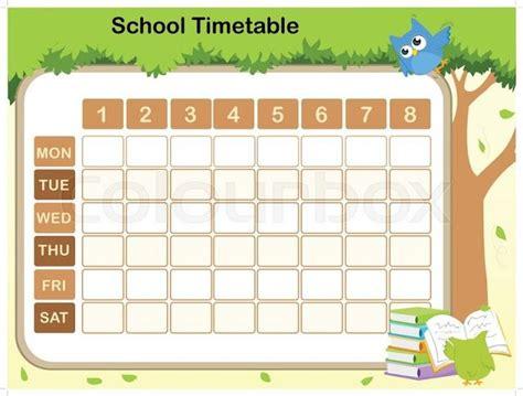 school timetable template teachers school timetable