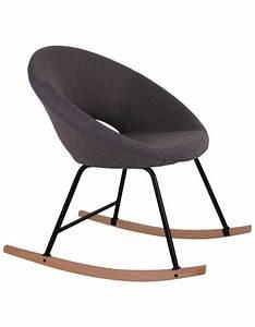 Rocking Chair En Tissu Gris  Deco  D U00e9co  D U00e9coration  D U00e9corationint U00e9rieure  D U00e9comaison  Salon