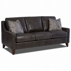 klaussner belton leather sofa with track arms and fabric With klaussner leather sectional sofa