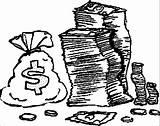 Coloring Money Printable Clip Fake Clipart Popular Dollar Nickel Boys Library Sheet sketch template