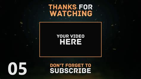 Outro Template Top 10 Free Outro Template For After