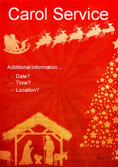 early learning resources editable carol service poster