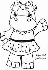 Coloring Hippos Olga Hippo Dibujos Hipopotamo Colorear Moldes sketch template