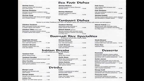 cuisine menu list indian food menus list of indian dishes