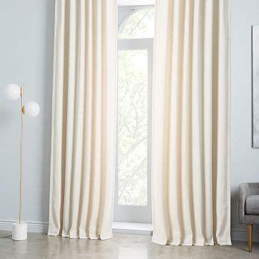 worn velvet curtain ivory west elm