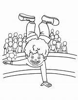 Acrobat Coloring Pages Clown sketch template