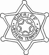Badge Sheriff Coloring Point Six Police sketch template