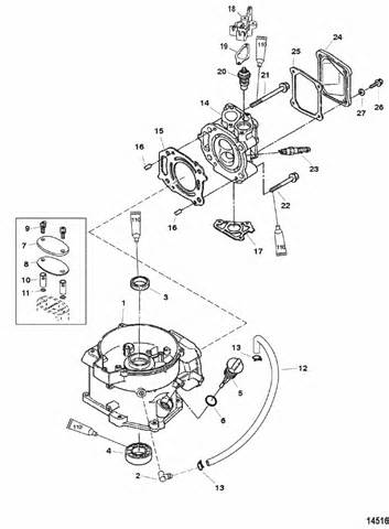 mercury marine  hp  stroke cylinder block parts