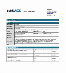 recording minutes template - sample construction meeting minutes templates