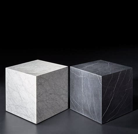 The chairish buyer guarantee ensures that you have complete peace of mind when making a purchase on chairish in the event that your item: Marble Plinth Cube Side Table | Cube side table, Marble end tables, Stone coffee table