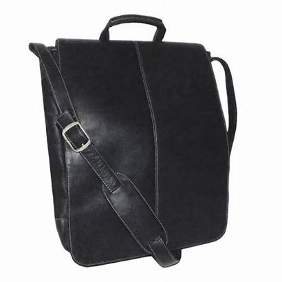 Messenger Laptop Bag Inch Vaquetta Leather Vertical