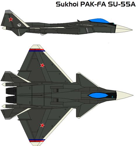 Sukhoi Su-55a By Bagera3005 On Deviantart