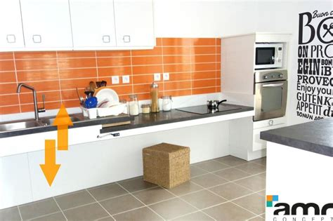 cuisine hauteur variable manuelle accessible pour personne handicap 233 e pmr et senior amrconcept