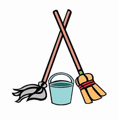 Cleaning Clipart Supply Cartoon Mop Bucket Cliparts