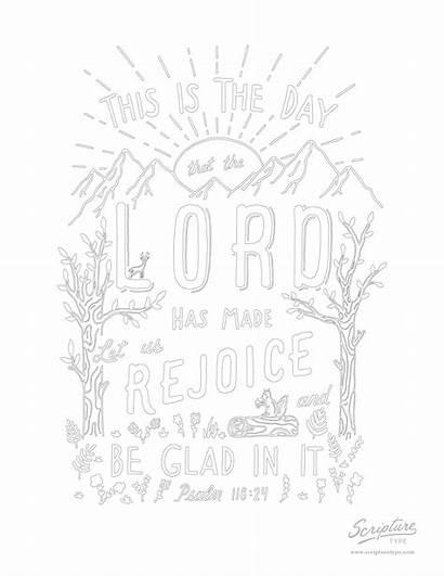 118 Psalm Coloring Scripture