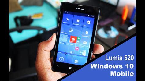 windows 10 mobile preview rodando no lumia 520 512mb ram
