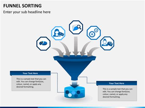 funnel sorting powerpoint template sketchbubble