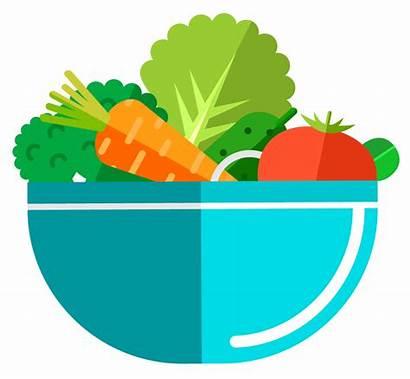 Bowl Clipart Vegetable Salad Harvest Transparent Diced