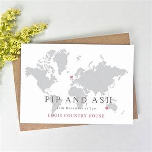 world map wedding invitation by paper and inc With wedding invitation cards germany