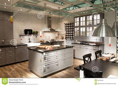 magasin meuble de cuisine cuisine dans le magasin de meubles ikea image éditorial