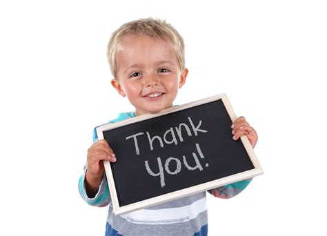 "Teaching Your Child To Say ""thank You"""