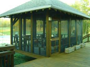 this freestanding screened porch in greensboro nc was the