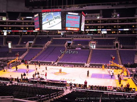 seats  staples center  clippers lakers games rateyourseatscom