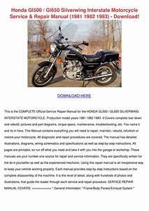 Honda Gl500 Gl650 Silverwing Interstate Motor By