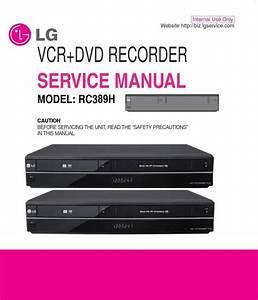 Lg Rc389h Dvd Recorder Service Manual  U0026 Repair Guide In