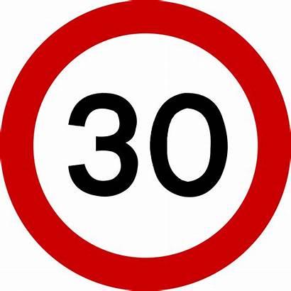 Speed Limit Sign 32 Kph Traffic Svg