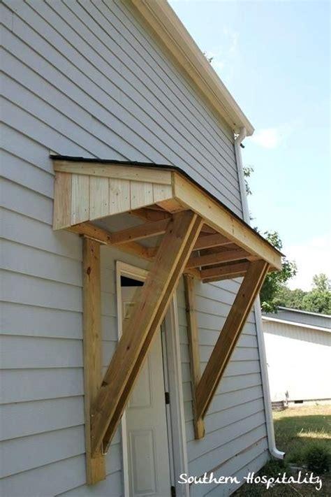 diy door awnings  front door awning   roof  front door awning diy wood door