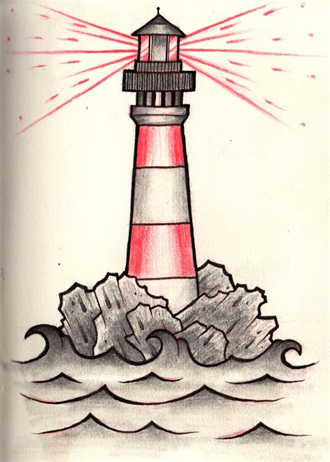 lighthouse drawing  clip art
