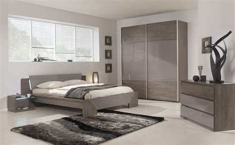 neutral taupe contemporary bedroom design with textured