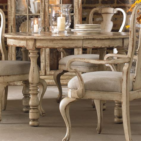 hooker furniture wakefield round leg dining table with