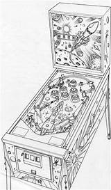 Pinball Machine Drawing Layout Artwork Drawings Sketch Coloring Template Pen Behance Pencil Arcade Rotring Isograph Rough Illustration sketch template