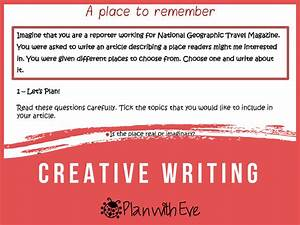 Creative Writing  Instructions   Ideas   Organiser