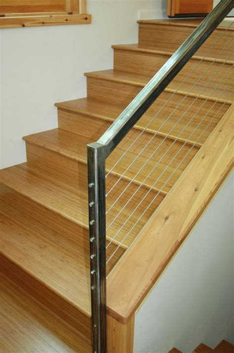 Natural bamboo stair treads from Cali Bamboo   Bamboo