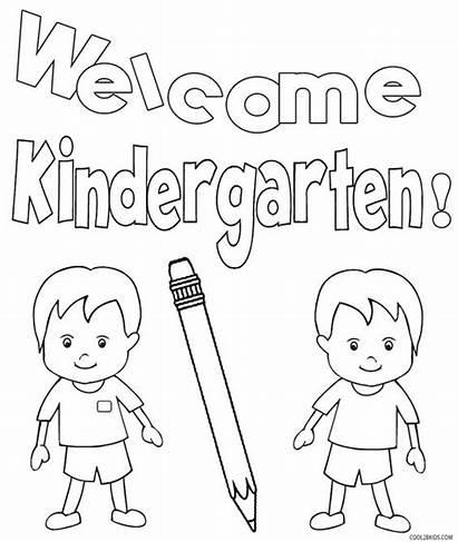 Kindergarten Coloring Pages Printable Worksheet Activities Drawing