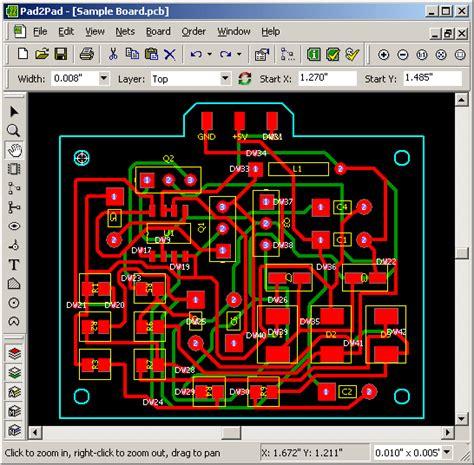 Filegets Padpad Free Pcb Layout Cad Screenshot