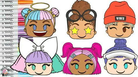 lol surprise dolls emoji coloring book page pranksta boss queen sugar caddy cutie vrqt sunny