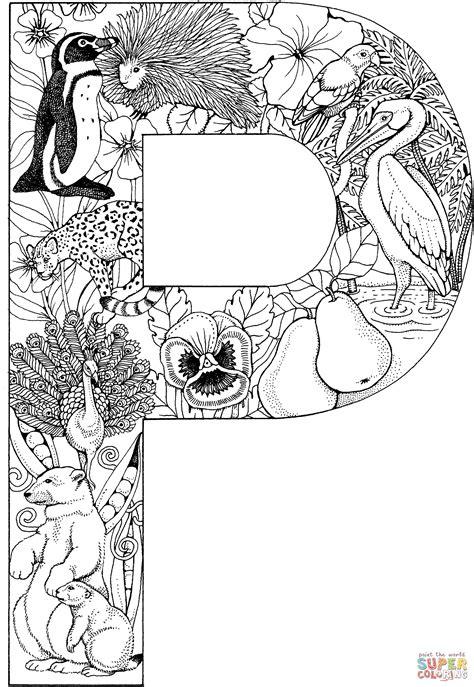 Kleurplaat Mandala Letters letter p kleurplaat gratis kleurplaten printen