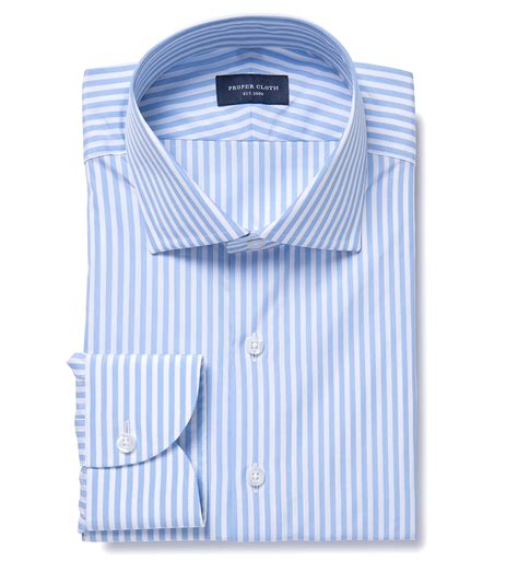light blue and white striped shirt light blue end on end stripe dress shirt by