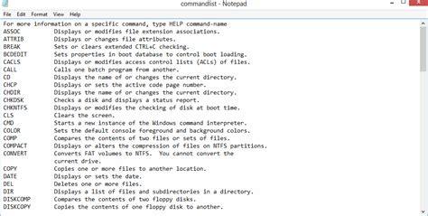 generate  list    commands