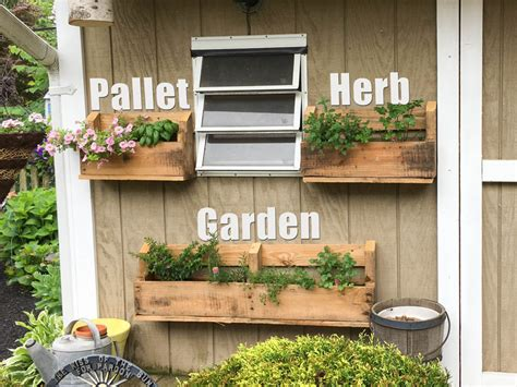 How To Make A Vertical Pallet Herb Garden by Vertical Pallet Herb Garden Handydadtv