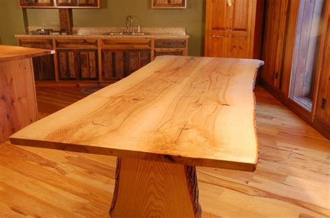 hand crafted  edge ash slab dining table  corey