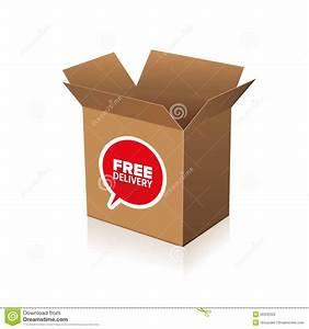 Carton De Déménagement Gratuit : carton gratuit de la livraison illustration de vecteur ~ Premium-room.com Idées de Décoration