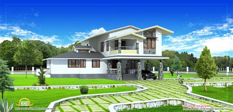 2 stories house 2 house plan 2490 sq ft indian home decor